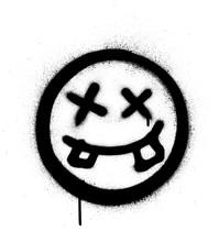 Graffiti Crazy Dude Icon Spray...