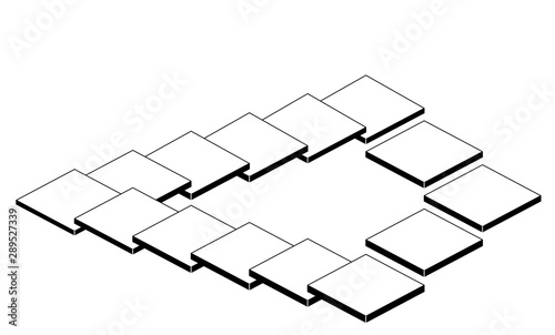Valokuvatapetti Escalier de Penrose 3