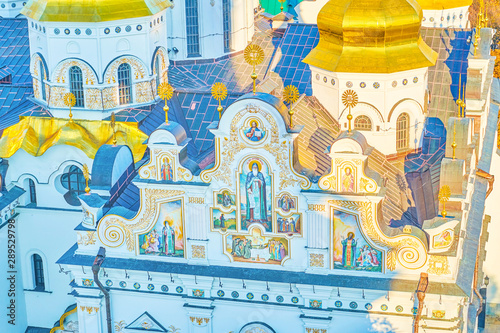 Frescoes on the Dormition Cathedral in Lavra monastery in Kiev, Ukraine