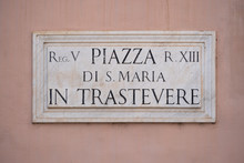 Street Sign On Marble Plate, P...