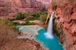 Leinwandbild Motiv Havasu Falls - blue waterfalls in the Grand Canyon, Arizona