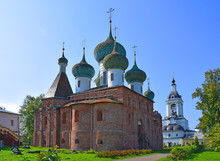 According To The Decree Of Tsar John The Terrible, The Epiphany Cathedral Was Built On The Territory Of The Abrahamic Monastery In 1553-1555. Author Unknown. Russia, Rostov, August 2019
