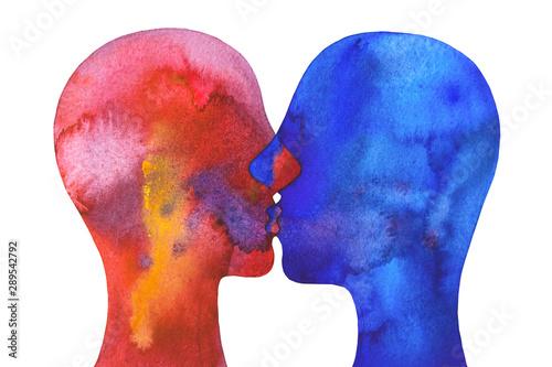 disegno concettuale amore bacio intimità Wallpaper Mural