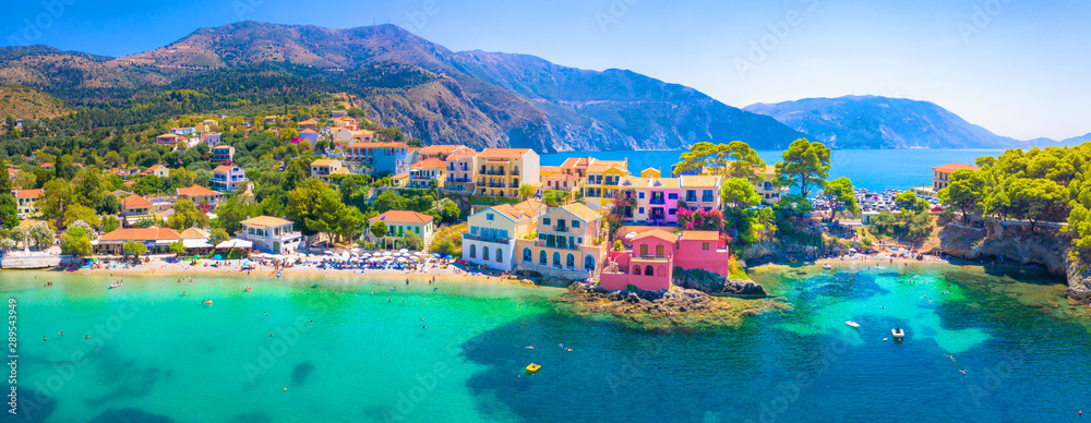 Fototapety, obrazy: Picturesque Assos village in Kefalonia island, Greece