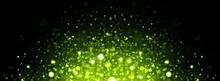 Christmas Green Bokeh Background.Glitter Vintage Lights Background.