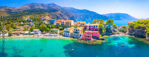 Canvas Prints Mediterranean Europe Picturesque Assos village in Kefalonia island, Greece