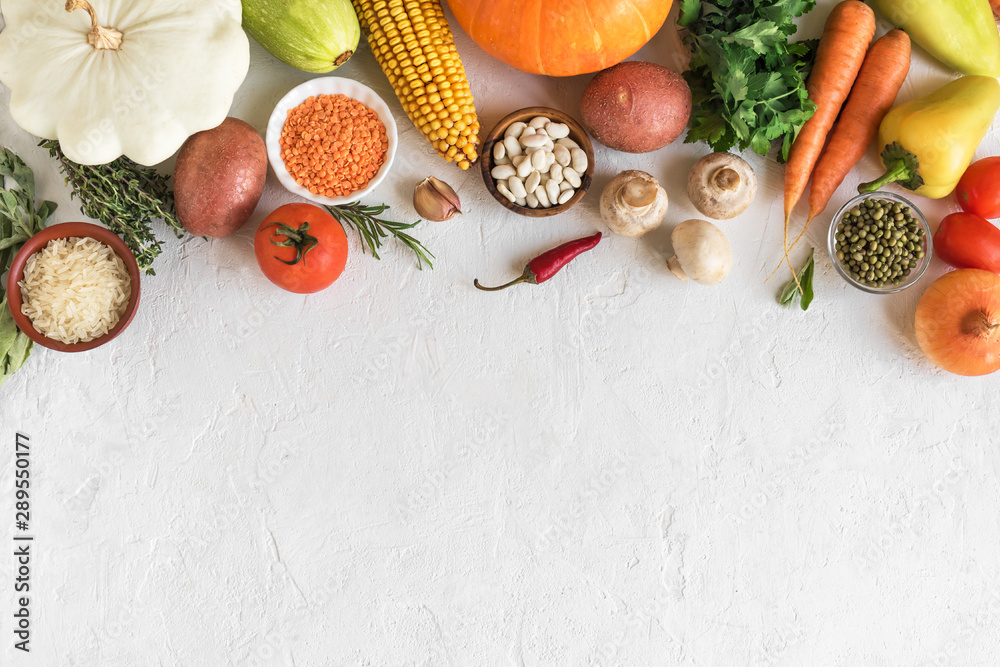 Fototapety, obrazy: Vegetarian cooking background