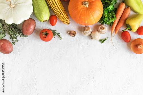 Vegetable cooking background - 289550150