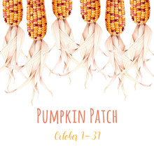 Pumpkin Patch Banner With Indi...