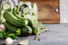 Fresh Organic Zucchini, Garlic...