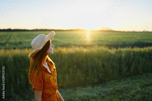 woman in the field - 289553750