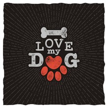 I Love My Dog - Retro Lettering Vector Design For T Shirt.