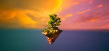 Fantasy Floating Island With F...