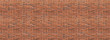 Leinwanddruck Bild - Panoramic background of wide old red and brown brick wall texture. Home or office design backdrop. Vintage brickwall