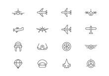 Aviation Thin Line Vector Icon...