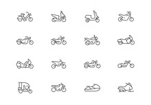 Motorcycles Thin Line Vector I...