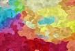 Leinwanddruck Bild - abstract creative painting style with dark khaki, firebrick and steel blue colors