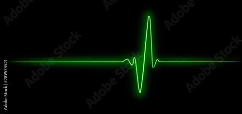 Cuadros en Lienzo  Cardiogram, hope for survival, resuscitation of human life, pulse