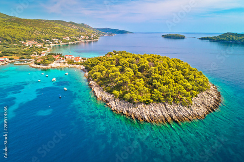 Fotografie, Obraz  Aerial view of Prizba on island Korcula
