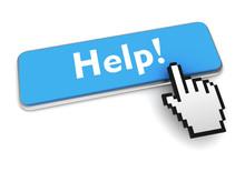 Help Push Button Concept 3d Il...