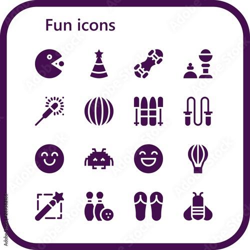 Valokuva fun icon set