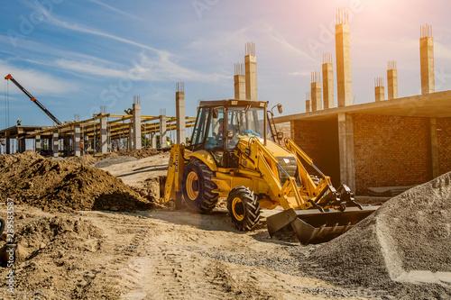 Vászonkép Construction site background