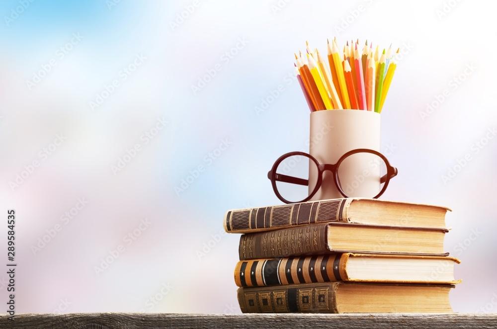 Fototapeta Day international school teachers blackboard books brazil