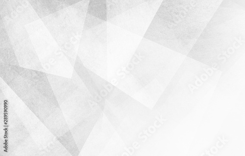 Photo abstract white background design, geometric lines angles shapes in white and gra
