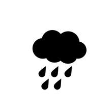 Raindrops Falling Of A Black Cloud