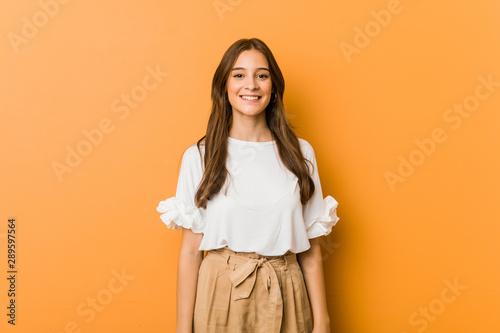 Fotografie, Obraz  Young caucasian woman happy, smiling and cheerful.