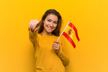 Young European Woman Holding A...