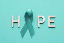 HOPE With Teal Ribbon, Ovarian Cancer, Cervical Cancer, Anti Bullying And Sexual Assault Awareness