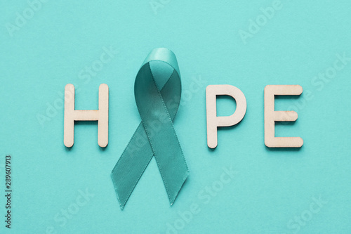 Hope With Teal Ribbon Ovarian Cancer Cervical Anti