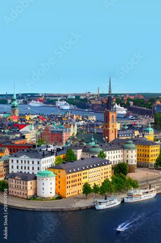 Fotobehang Noord Europa Panorama of Stockholm, Sweden