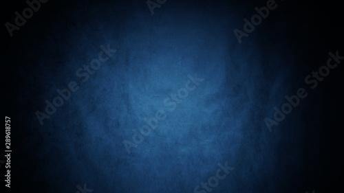 Valokuva  Dark, blurred, simple background, blue black abstract background blur gradient