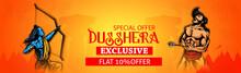 Dussehra Festival Sale Banner Or Poster Design Lord Rama Killing Ravana In Navratri Festival Of India Happy Dussehra Celebration