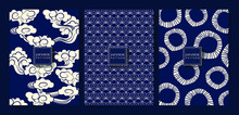 Japanese Indigo Blue Background