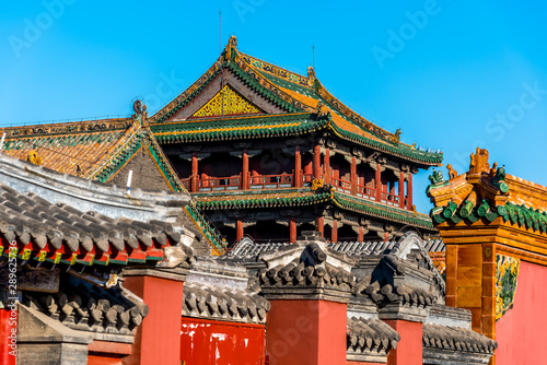 Obraz na plátně Roof of Shenyang Imperial Palace Building in CHINA.