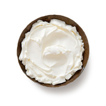 Bowl Of Cream Cheese Isolated ...