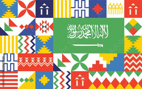 Fotografia  Saudi arabia national day 2019 logo design 01 september 2019