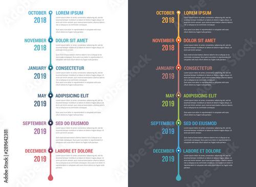Timeline Infographics Canvas Print