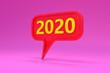 Leinwanddruck Bild - New Year 2020 Creative Design Concept - 3D Rendered Image