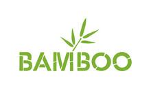 Bamboo Font Icon. Bamboo Text Design. English Vector Logo.
