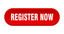 Register Now Button. Register Now Rounded Red Sign. Register Now