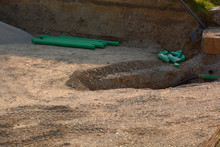 Pvc Water Pipe At Construction...