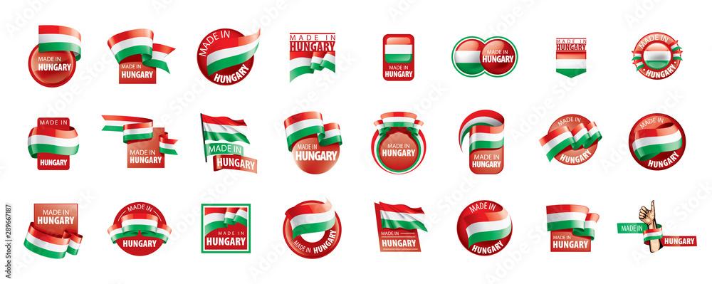 Fototapeta Hungary flag, vector illustration on a white background