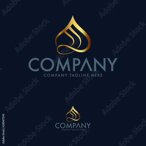 Fotografia  Luxury sultan hat restaurant logo design template