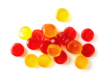Colorful Fruit Hard Candy Isol...