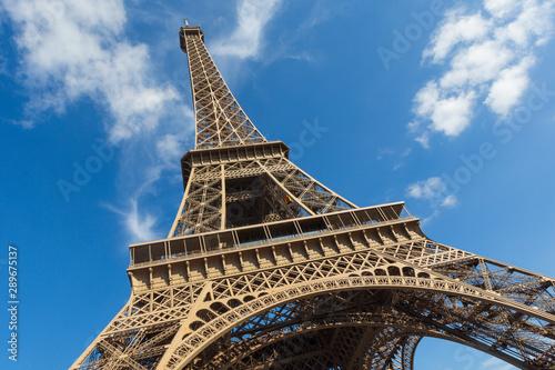 Fototapeta The Eiffel Tower, a wrought-iron lattice tower on the Champ de Mars in Paris, France obraz na płótnie