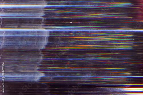 Digital glitch. Broadcasting error. Striped pattern noise.